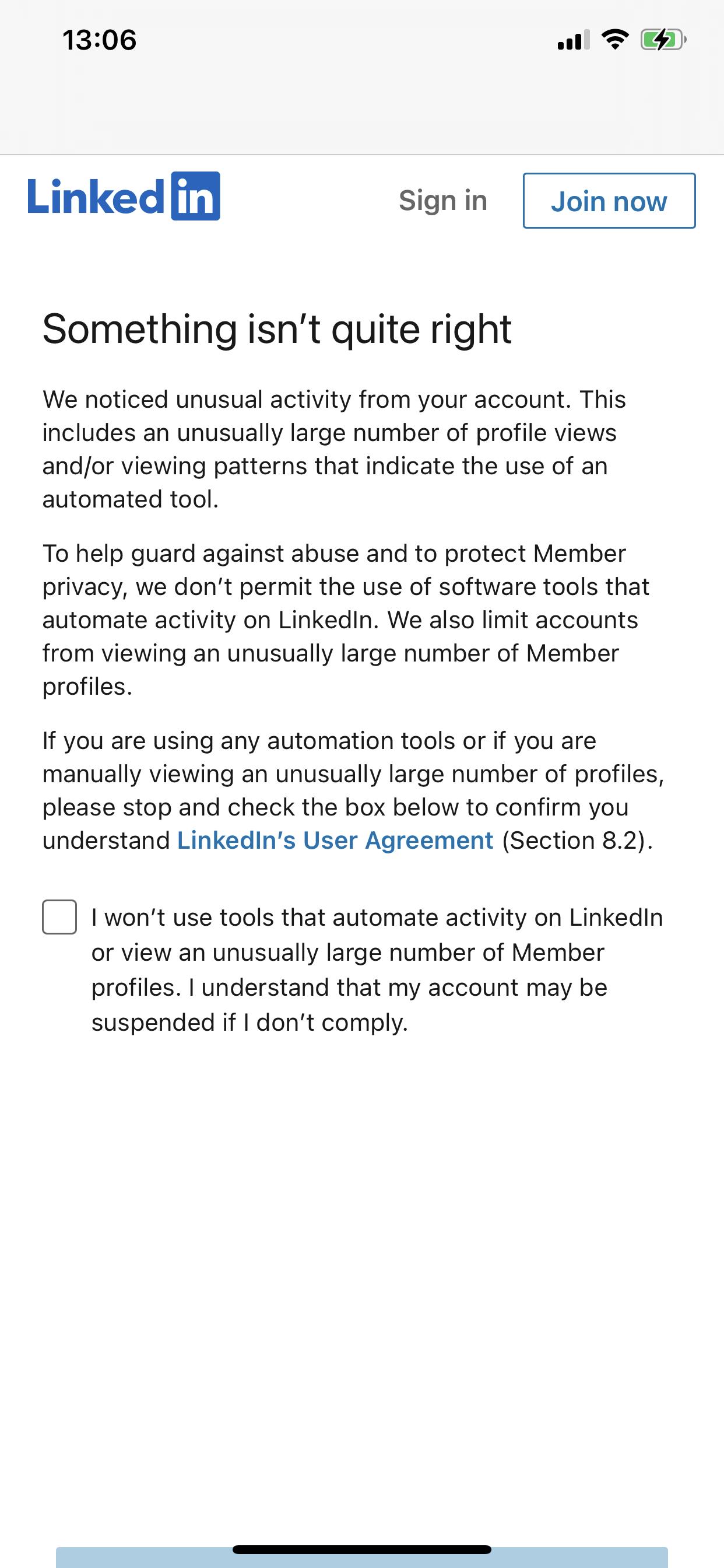 Ha aránytalanul sok profiloldalt nézel meg, rövid idő alatt, a rendszer gondolhatja azt, hogy robot vagy, ami profil letiltással járhat. LinkedIn SSI score, hogyan növeld az értékét?